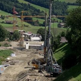 Umfahrung Wattwil 2. Etappe, Trassee- und Belagsbau